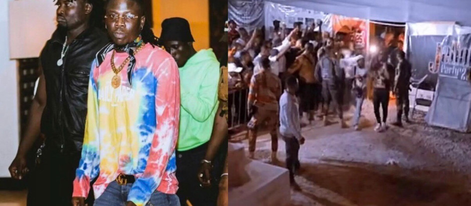 Stonebwoy involved in a fatal accident, beats the Sprinter driver involved [VIDEO]