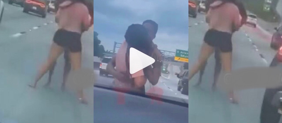 A Viral Video Of Man And Girlfriend Ch0p H3avy L0ve At The M!ddle Of A Busy Road  [WATCH NOW]
