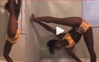Watch Video Of This Acrobatic Lady That Has Been Trending On Social Media