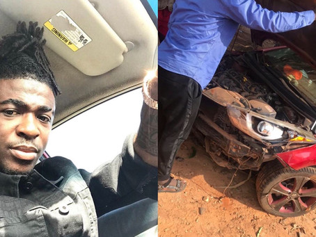 Popular Kumawood actor involved in accident [Photos]