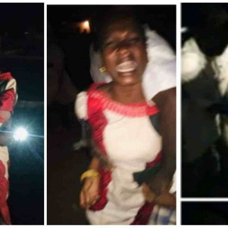 Sad as unidentified woman allegedly thr0wn out of moving car goes viral on social media