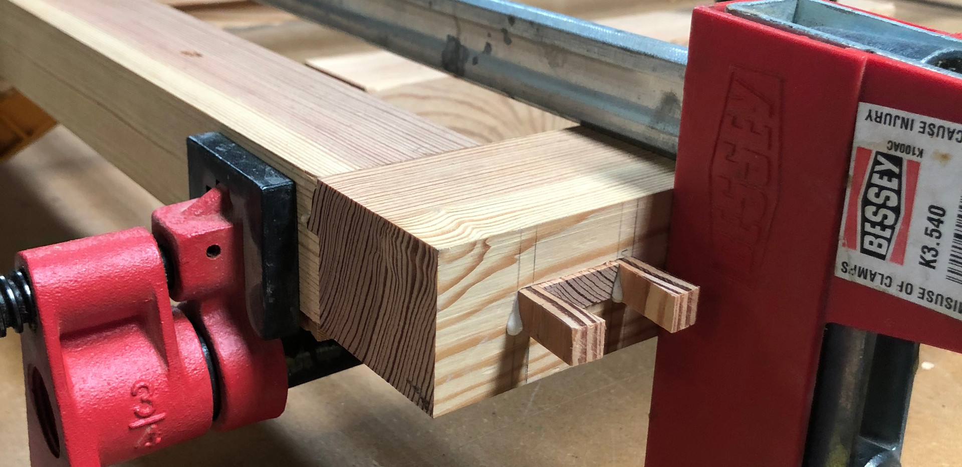 Wedged Mortise and Tenon Joint