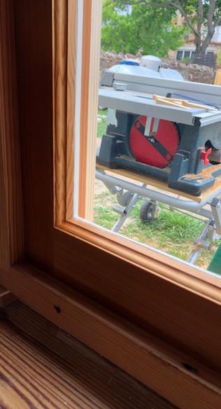 Reclaimed window sash.