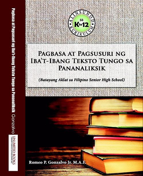 Pagbasa at Pagsusuri ng Iba't-ibang Teksto Tungo sa Pananaliksik