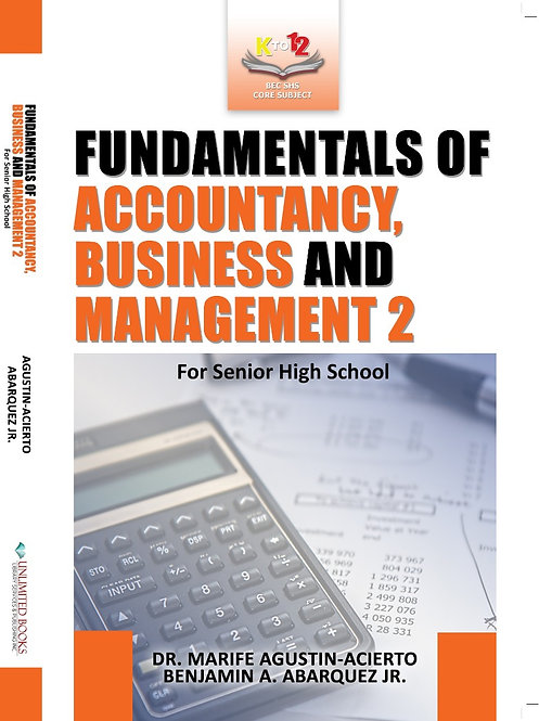 Fundamentals of Accountancy, Business and Management 2
