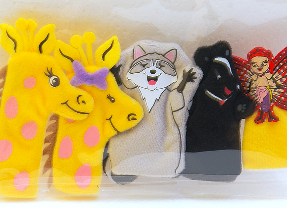 Jiffie and Friends Finger Puppets - Jiffie Saves the Day!