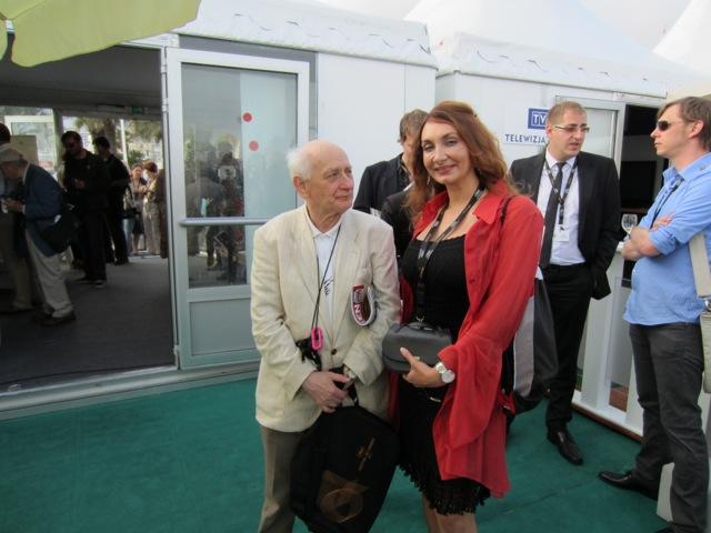 Vio with film critic Tudor Caranfil