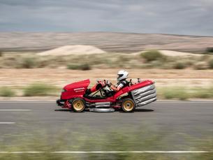 Hauling Grass: We Drive Honda's 150-MPH Mean Mower V2!