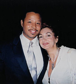 Vio with actor Terrence Howard