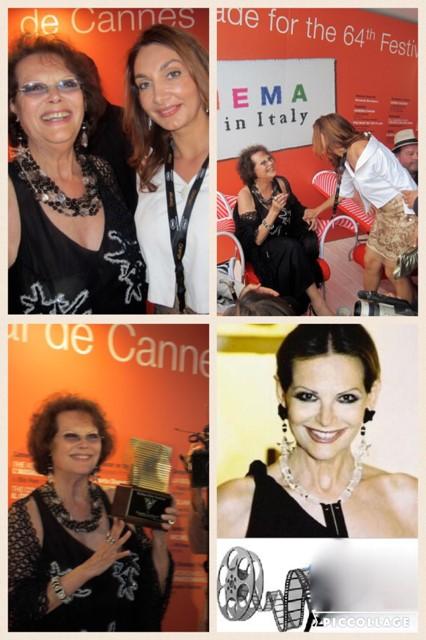 Vio with actress Claudia Cardinale