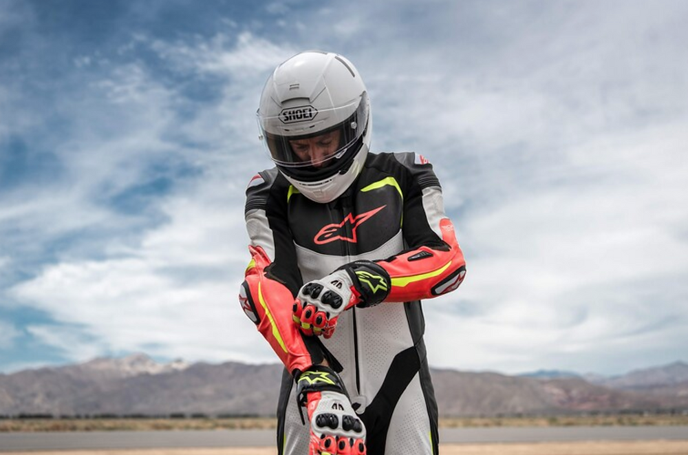 Racing Leathers for a Lawn Mover Ride