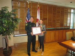 Vio with Sheriff Scott Israel