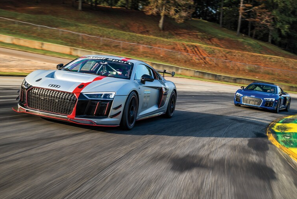 Audi R8, RS3, and TTRS Take on Road Atlanta