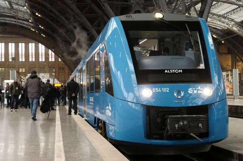 The trains are designed to travel up to 600 kilometers (375 miles) on each hydrogen charge and are due to start operating in 2025, according to the head of Alstom France, Euan-Baptiste Aimeoud.