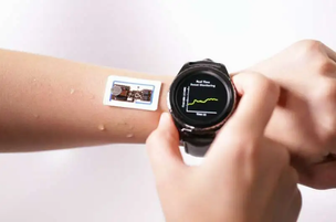 A device on the skin to measure the speed, loss, and temperature on the skin in real-time