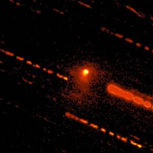 The distant centaur was recognized as a comet