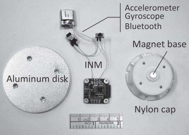 Photo of an aluminum disk and measuring sensors that were attached to it during experiments / Jie Tang et al. / Physics of Fluids, 2021