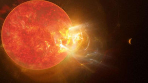 Humongous flare from the sun's nearest neighbor breaks records