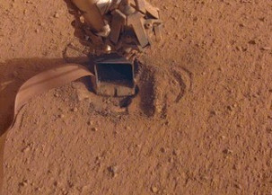 The impact probe of the InSight station began to dig into the Martian soil on its own