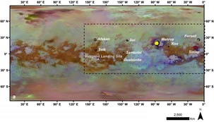 Craters near Titan's equator were filled in with organic matter