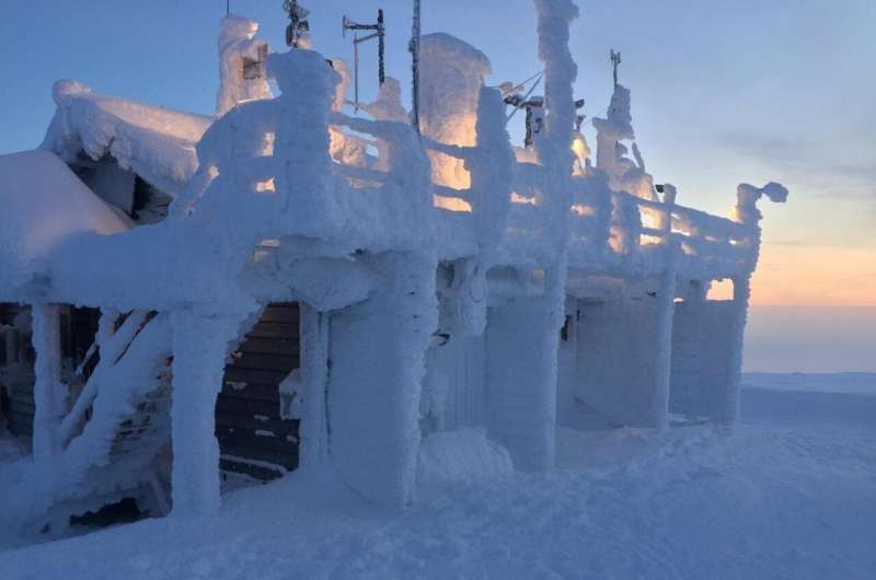 Finnish Meteorological Institute observation station used in the study, Pallas National Park, Arctic Finland. Photo: Jeff Welker