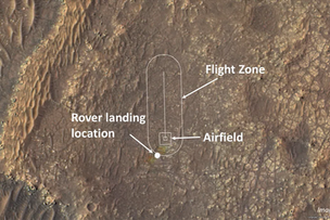 NASA unveils flight zone for historic helicopter flight on Mars
