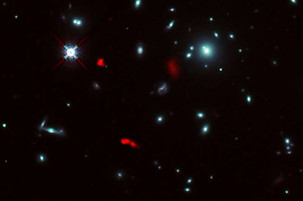 ALMA Discovers Rotating Baby Galaxy with Natural Space Telescope
