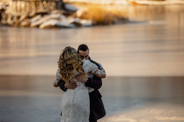 First Look at Lakeside Wedding Venue
