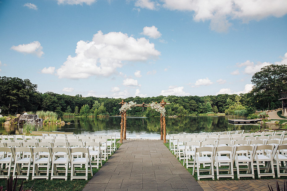 Lakefront Wedding Ceremony in NJ