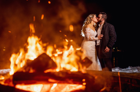 Outdoor Wedding with Firepit