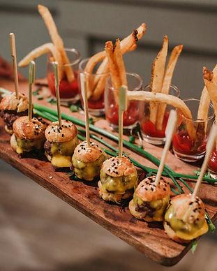 Mini Slider Fries Passed Wedding Menu Ideas Bite Sized