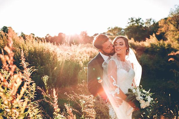 Bride and Groom at Outdoor Wedding Venue in NJ Mark Martucci