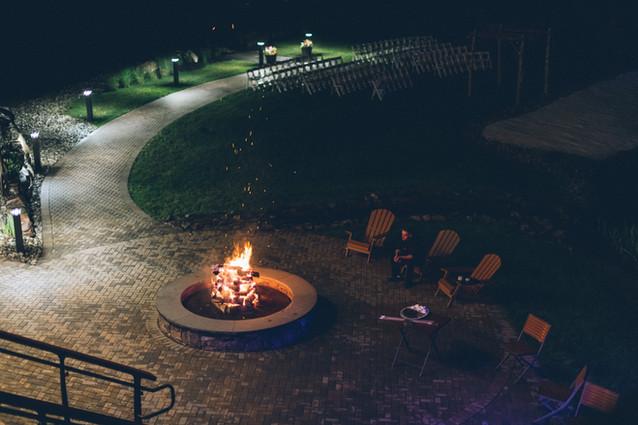 Outdoor Firepit at NJ Wedding Venue