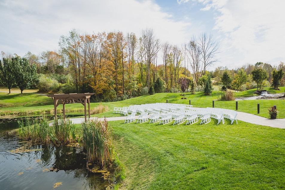 bear brook valley ceremony fall october wedding