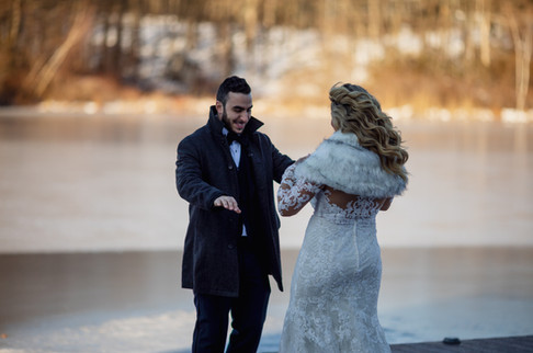 First Look at Lakefront Wedding Venue