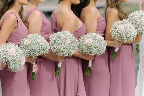 Bridal Party at Outdoor Wedding Ceremony in NJ
