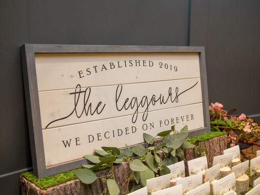 Unique Place Card Ideas at Bear Brook Valley