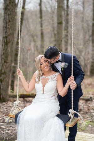 Bride and Groom Wedding Photo at Rock Island Lake Club