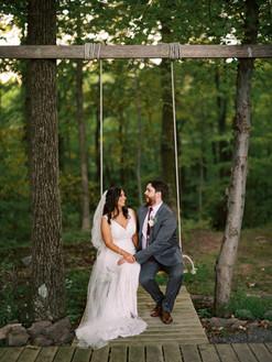 Bride & Groom Swing Photo