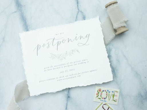 Postponement Cards for Weddings Affected by COVID-19