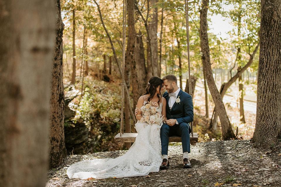 Swing bear brook fall october wedding