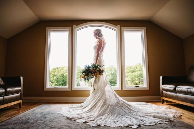 Bridal Portrait in the Bridal Suite