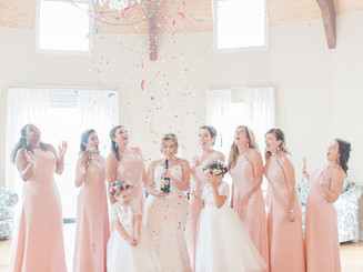 Pop champagne with your girls in the bridal suite!