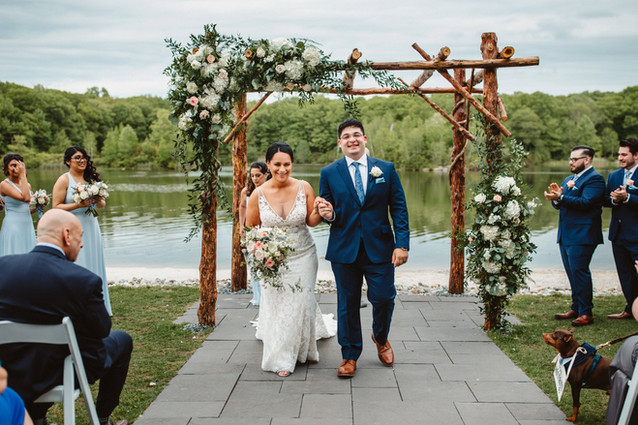 Lakefront Wedding Ceremony in New Jersey