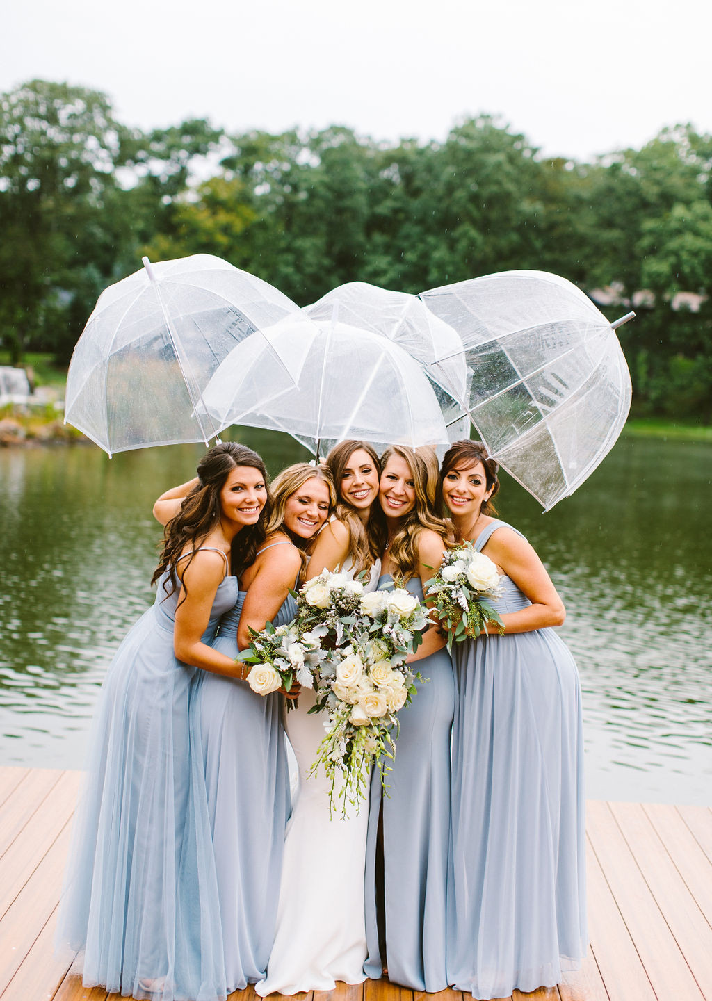 Bridal Party Dock Umbrellas