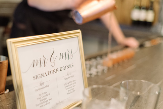 Signature Drinks Sign