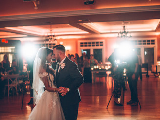 First dance in the rustic-chic, non-traditional ballroom.