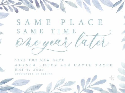 'Change the Dates' & Other Postponed Wedding Cards for COVID-19