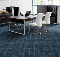 Install Deep Blue Carpet