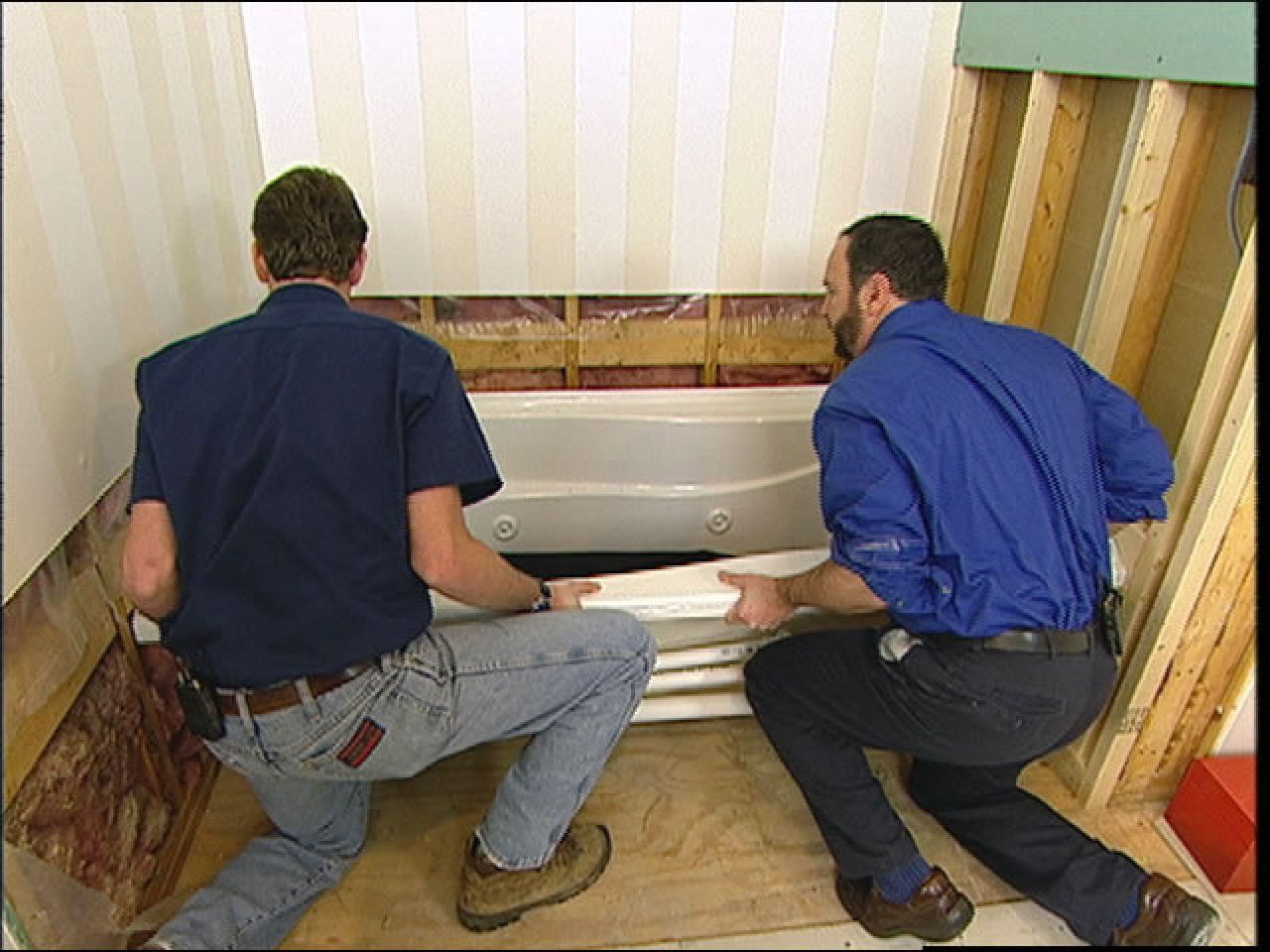 Install Replace Bathtub